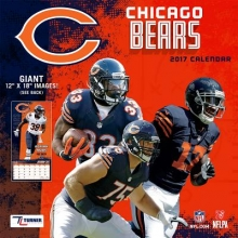 Cal 2017 Chicago Bears 2017 12x12 Team Wall Calendar
