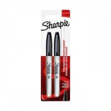, Viltstift Sharpie rond 0.9mm zwart blister à 2 stuks