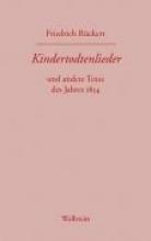 Rückert, Friedrich Friedrich Rckerts Werke. Kindertodtenlieder