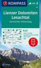 KOMPASS-Karten GmbH , KOMPASS Wanderkarte Lienzer Dolomiten, Lesachtal, Karnischer Höhenweg 1:50 000