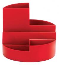 , Pennenkoker MAUL roundbox 6 vakken rood