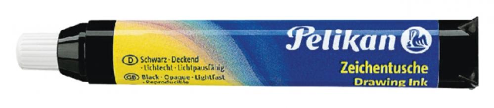 , Oostindische inkt Pelikan pipet 9ml zwart