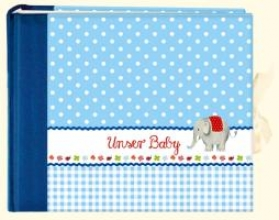 Unser Baby (blau). Groes Foto-Eintragalbum