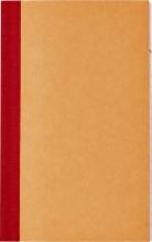 , Kasboek 135x83mm 1 kolom 72blz oranje