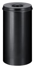 , Papierbak met vlamdover Vepabins 50liter 33.5cm zwart