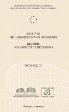 , Reports of judgments and decisions recueil des arrets et decisions Index 2010