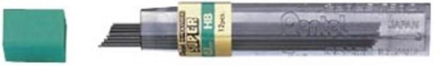 , Potloodstift Pentel 0.7mm zwart per koker H