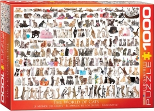 Eur-6000-0580 , Puzzel the world of cats - eurographics - 1000 - 48 x 68