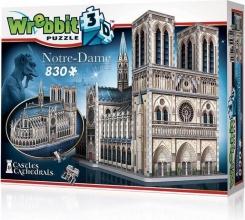 W3d-2020 , Puzzel 3d notre dame wrebbit  830 stuks