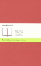 Moleskine Classic Notebook, Large, Plain, Coral Orange