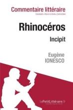 Digne-Matz, Jeanne Rhinocéros de Ionesco - Incipit