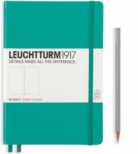 Lt344793 , Leuchtturm notitieboek medium 145x210 blanco emerald green