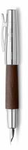 , vulpen Faber-Castell E-motion chroom/ donkerbruin perenhout M