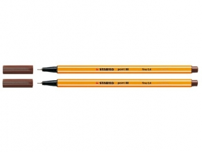 , Fineliner STABILO point 88/45 bruin