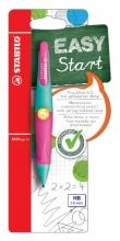 , Vulpotlood STABILO Easyergo 1.4mm linkshandig turquoise/neon roze blister