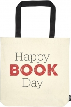 Mos-82760 , Katoenen tas groot 39x42 happy book day