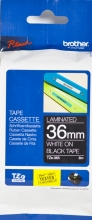 , Labeltape Brother P-touch TZE-365 36mm wit op zwart
