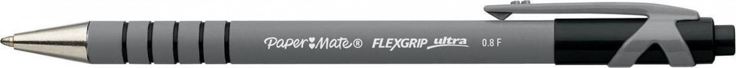, Balpen Paper Mate Flexgrip retractable zwart