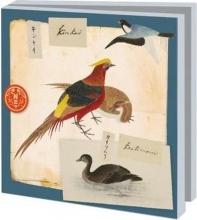 Wmc 949 , Notecards 10 stuks 15x15 vogels philipp franz von siebold
