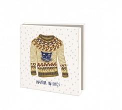Wmc1012 , Kerstkaart mapje 10 stuks met env floor rieder warm wishes