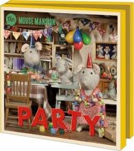 Wmc1054 , Notecards 10 stuks 15x15 mouse mansion party