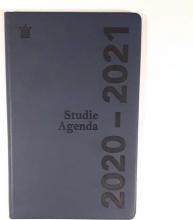 520stu110.bl , Studieagenda 2020-2021 deluxe blauw  a5