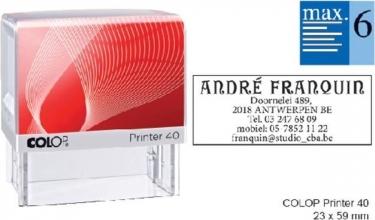 , Tekststempel Colop Printer 40 +bon 6regels 59x23mm