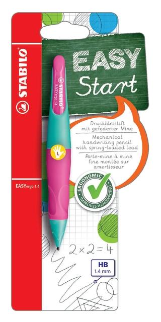 ,Vulpotlood STABILO Easyergo 1.4mm linkshandig turquoise/neon roze blister