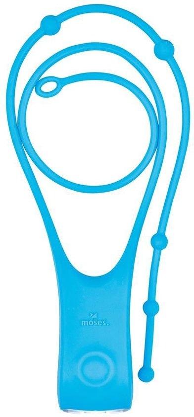 Mos-26180,Kinderleeslampje - verstelbaar - blauw - incl. batterijen - 3.2x2.6x39.5 cm