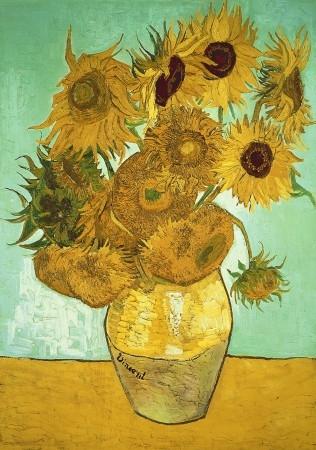 Wen-713704z,Sunflowers - van gogh - houten  puzzel - wentworth - 40 - 12.5 x 8.7