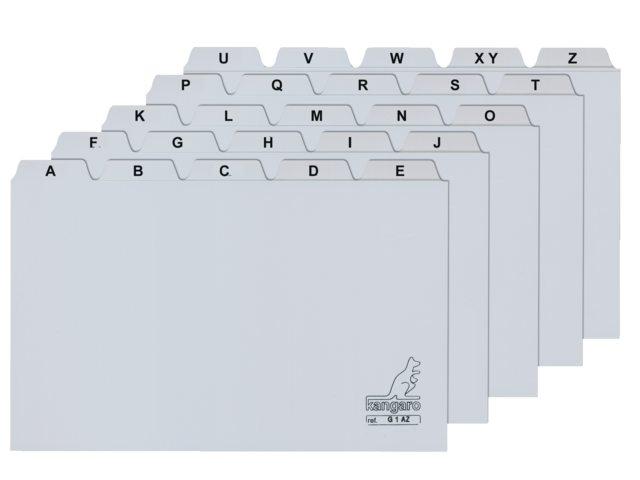,Alfabet HF2 110x150mm PP grijs