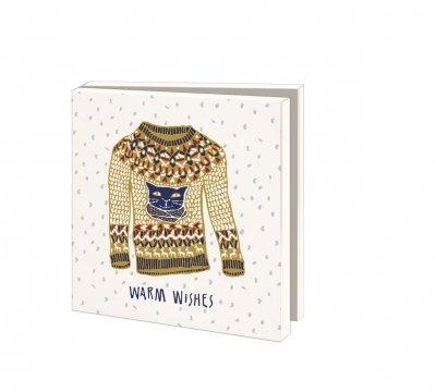 Wmc1012,Kerstkaart mapje 10 stuks met env floor rieder warm wishes