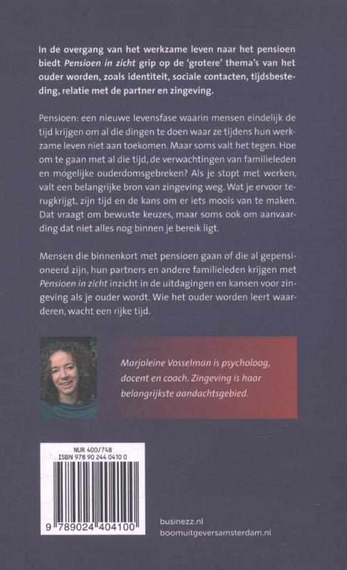 Marjoleine Vosselman,Pensioen in zicht