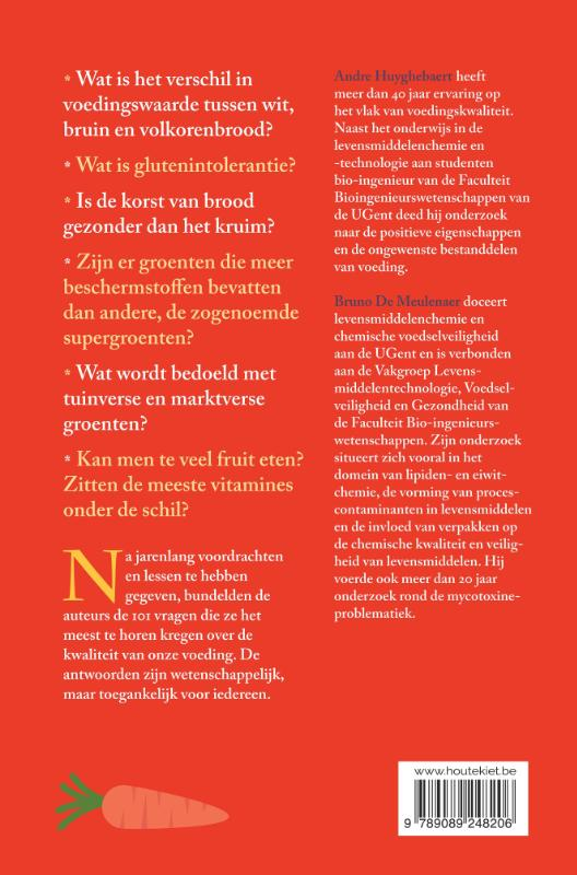 Andre Huyghebaert, Bruno De Meulenaer,101 vragen over voeding