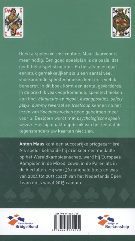 Anton Maas,Speeltechnieken
