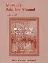 Margaret L. Lial,   Stanley A. Salzman,   Diana L. Hestwood Student Solutions Manual for Basic College Mathematics