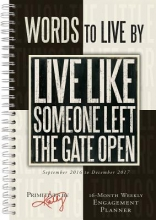 Phillips, Kathy,   Primitives By Kathy Cal 2017-Words to Live by Primitives by Kathy