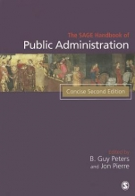 B. Guy Peters,   Jon Pierre The SAGE Handbook of Public Administration