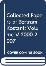 Bertram Kostant Collected Papers of Bertram Kostant