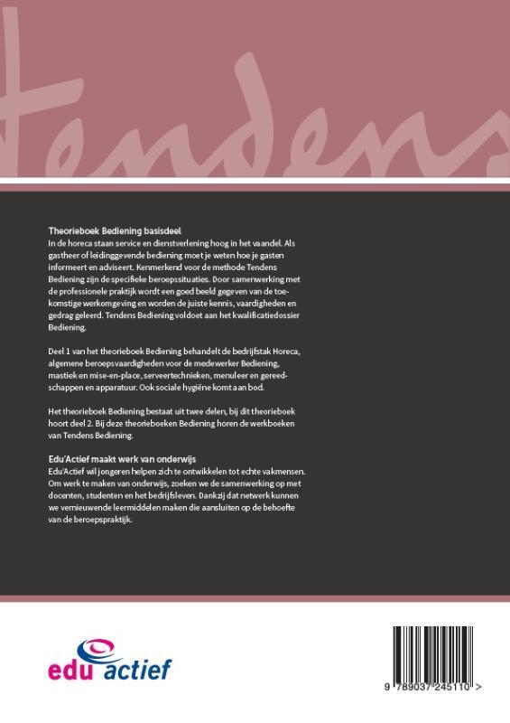 ,Theorieboek Bediening deel 1 en 2