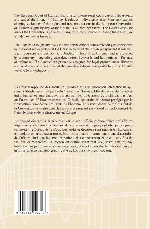 ,Reports of judgments and decisions/recueil des arrêts et décisions 2013-III