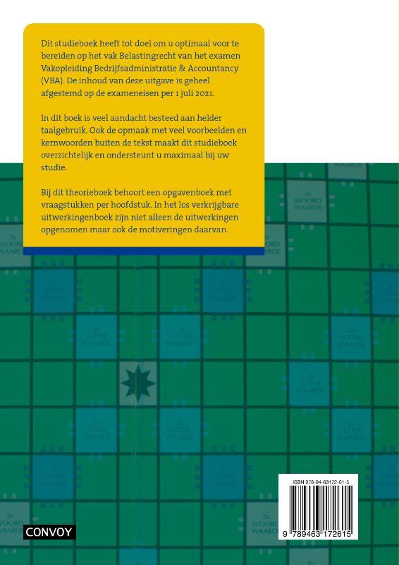 C.J.M. Jacobs,VBA Belastingrecht met resultaat 2021/2022 Theorieboek