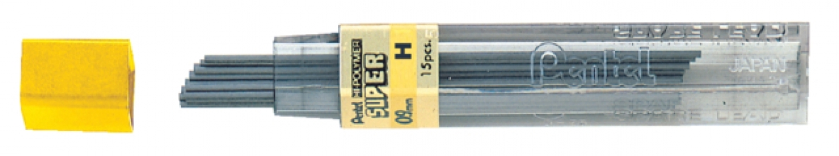 , Potloodstift Pentel 0.9mm zwart per koker H