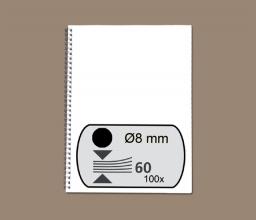 , Draadrug Fellowes 8mm 34-rings A4 zwart 100stuks