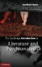 Rabate´, Jean-michel The Cambridge Introduction to Literature and Psychoanalysis