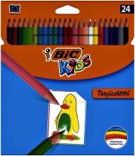 , Kleurpotloden Bic Kids Tropicolors blister à 24 stuks
