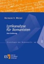 Wetzel, Hermann H. Lyrikanalyse für Romanisten