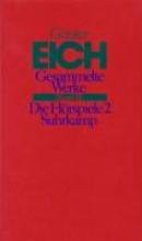 Eich, Günter Gesammelte Werke 3. Die Hrspiele 2