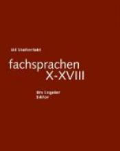 Stolterfoht, Ulf fachsprachen X - XVIII