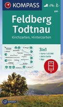 , Feldberg, Todtnau, Kirchzarten, Hinterzarten 1:25 000
